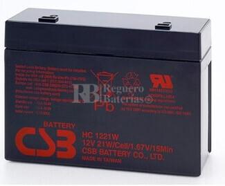 Bateria de Plomo HC1221W CSB 12 Voltios 5,1 Amperios