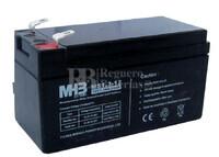 Bateria de Plomo MHB 12 Voltios 1.3 Amperios MS1.3-12  97x43x52mm
