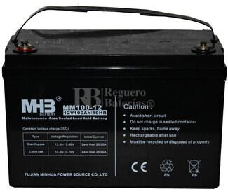 Bateria de plomo MHB 12 Voltios 100 Amperios MM100-12 330X173X220mm