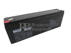 Bateria de Plomo MHB 12 Voltios 2,3 Amperios MS2.3-12 179x35x61mm