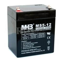 Bateria de Plomo MHB 12 Voltios 5 Amperios MS5-12  90x70x101mm