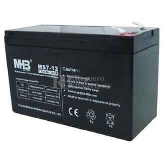 Bateria de Plomo MHB 12 Voltios 7 Amperios MS7-12 151x65x94mm
