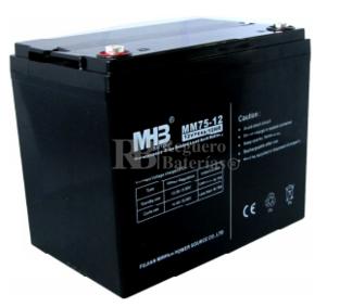 Bateria de Plomo MHB 12 Voltios 75 Amperios MM75-12   260x167x216mm