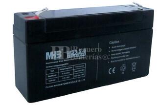 Bateria de Plomo MHB MS3.2-6 6 Voltios 3.2 Amperios 66x34x115mm
