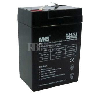 Bateria de Plomo MHB 6 Voltios 4.5 Amperios MS4.5-6 70x47x101mm