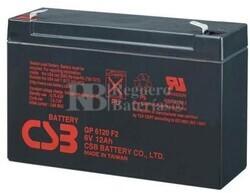 Batería para SAI 6 Voltios 12 Amperios CSB GP6120
