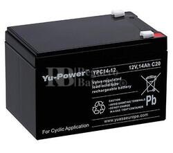 Bateria Yuasa Yu-Power  YPC14-12 12 Voltios 14 Amperios 151x98x95 mm