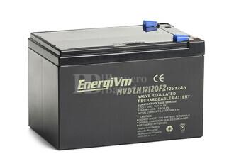Batería de Plomo12 Voltios 12 Amperios Alta Descarga