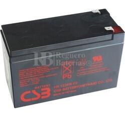 Batería reemplazo CSB HR1234WF2 para Sai