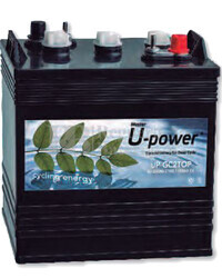 Bateria De Traccion U-POWER  UP-GC2TOP 6 Voltios 250 Amperios 261x181x276