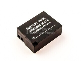 Batería DMW-BLC12 para Panasonic Lumix DMC-FZ1000, Lumix DMC-FZ200, Lumix DMC-FZ200GK, Lumix DMC-FZ200K