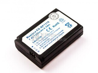 Bateria ED-BP1310, para camaras Samsung, Li-ion, 7,4V, 1200mAh, 8,9Wh