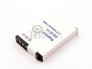 Bateria EN-EL12, para camara Nicon, Li-ion, 3,7V, 1050mAh, 3,9Wh