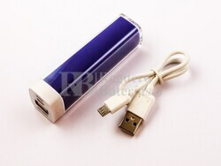 Batería Externa Power Bank Litio-Ion 2200mAh, 8,2Wh Color Azul