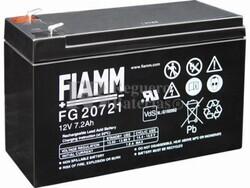 Bateria FIAMM de Plomo 12 Voltios 7,2 Amperios Faston 4.8 mm FG20721
