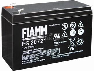 Batería 12 Voltios 7,2 Amperios Faston 4.8 mm FIAMM FG20721