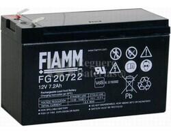 Bateria FIAMM de Plomo 12 Voltios 7,2 Amperios FG20722