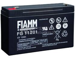 Bateria FIAMM de Plomo 6 Voltios 12 Amperios FG11202