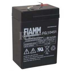 Bateria FIAMM de Plomo 6 Voltios 4,5 Amperios FG10451
