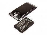 Bateria Galaxy Note 3, Li-ion, para telefonos Samsung, 3,8V, 6400mAh, 24,3Wh, tapa color negro