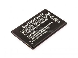 Bateria, Galaxy Note 3, para telefonos Samsung, Li-ion, 3,8V, 3200mAh, 12,2Wh, with NFC