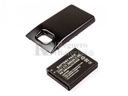 Bateria Galaxy S II, GT-I9100, para telefonos Samsung, Li-ion, 3,7V, 3000mAh, 11,1Wh, with black cover