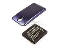 Batería Galaxy S4, GT-I9500, para teléfonos Samsung, Li-ion, 3,8V, 5200mAh, 19,8Wh, con tapa color Azul
