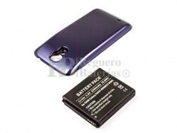 Bateria Galaxy S4, GT-I9500, para telefonos Samsung, Li-ion, 3,8V, 5200mAh, 19,8Wh, con tapa color Azul