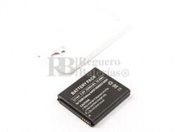 Bateria Galaxy S4, GT-I9500, para telefonos Samsung, Li-ion, 3,8V, 5200mAh, 19,8Wh, tapa color blanco