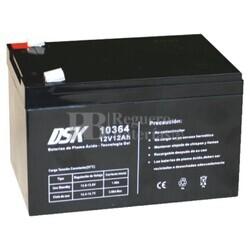 Batería Gel 12 Voltios 12 Amperios DSK