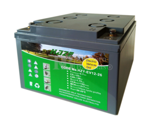 Batería Gel 12 Voltios 26 Amperios Haze EV12-26