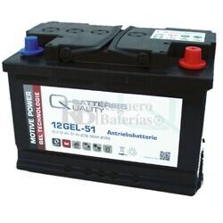 Batería Gel 12 Voltios 56 Amperios 12GEL51 Q-Batteries
