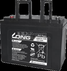 Batería Gel 12 Voltios 75 Amperios Long LGK75-12N