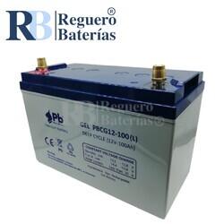 Batería Gel Borna Automoción 12 Voltios 100 Amperios PBCG12-100L