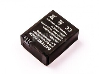 Bateria Hero 3, Li-ion, 3,7V, 960mAh, 3,6Wh para camaras GOPRO