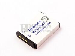Batería KLIC-7003 para Kodak EASYSHARE Z950, EASYSHARE V803, EASYSHARE V1003, EASYSHARE M420
