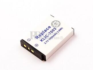 Bateria KLIC-7003, Li-ion, para camaras Kodak 3,7V, 1050mAh, 3,9Wh