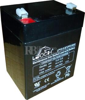 Bateria LEOCH LP12-5.0 AGM 12 Voltios 5 Amperios 90x70x101mm