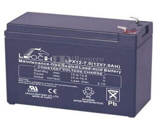 Bateria Leoch LPX12-7 12 Voltios 7,96 Amperios C20, 7,32 Amperios C10