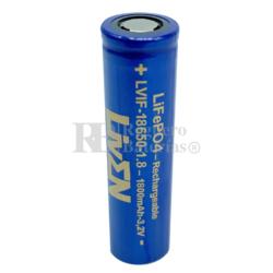 Batería 18650 LiFePO4 3.2V 1.800mAh