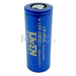 Batería 26650 LiFePO4 3.2V 3.600mAh