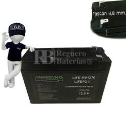 Batería para Bici Eléctrica LiFePO4 Litio Ferroso 12 Voltios Formato 7 Amperios