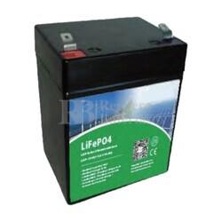 Batería Litio 12 Voltios 6 Amperios LifePo4