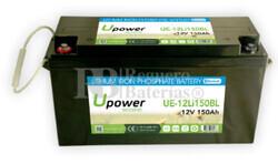 Batería Litio Bluetooth 12 Voltios 150 Amperios UE-12Li150BL
