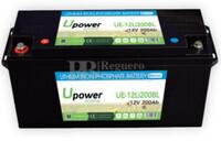 Batería Litio 12 Voltios 200 Amperios control Bluetooth UE-12Li200BL