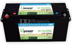 Batería Litio Bluetooth 12 Voltios 200 Amperios UE-12Li200BL
