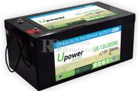 Batería Litio 12 Voltios 300 Amperios control Bluetooth UE-12Li300BL