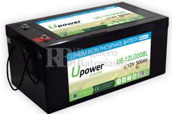 Batería Litio Bluetooth 12 Voltios 300 Amperios UE-12Li300BL