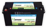 Batería Litio 25.6 Voltios 100 Amperios control Bluetooth UE-24Li100BL