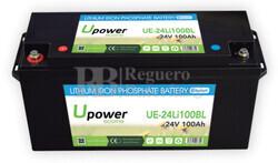 Batería Litio Bluetooth 24 Voltios 100 Amperios UE-24Li100BL